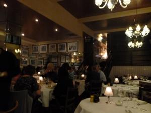 Cosy round tables enhanced the sociable scene