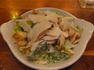 Starter of Chicken Caesar Salad