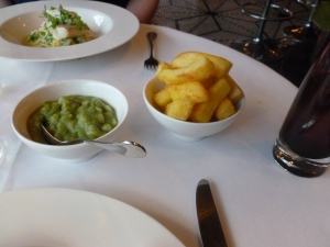 Triple Cooked Chips and Mushy Peas