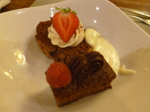 Chocolate Roulade and Toffee Cake