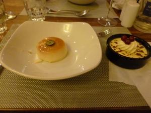 Coconut Creme Caramel and Lemon Mousse