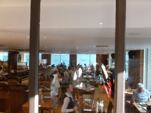 Overview of restaurant from the reception desk