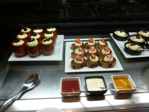 Trifles, Chocolate Roulade and Sauces