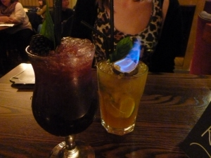 l-r: Winter Berry and Flaming Passion Fruit Mojitos