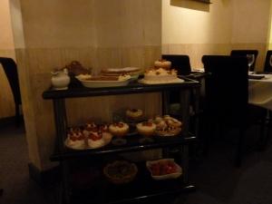 Pudding laden dessert trolley!