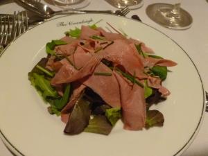 Smoked Duck Salad to start