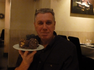 My Uncle John and his favourite profiteroles