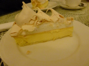 Gorgeous slice of lemon meringue