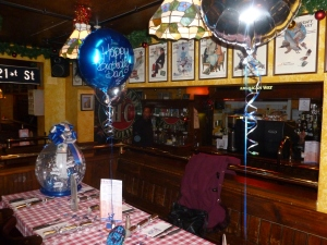 The birthday boy's table