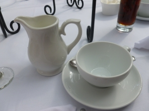 Milk jug and teacup