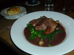 Duck in Red Wine and Gooseberry Sauce