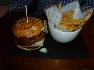 BBQ steak burger